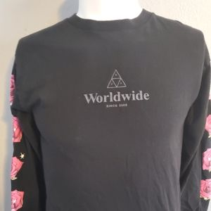 Huf Roses L/S Small Excellent Condition